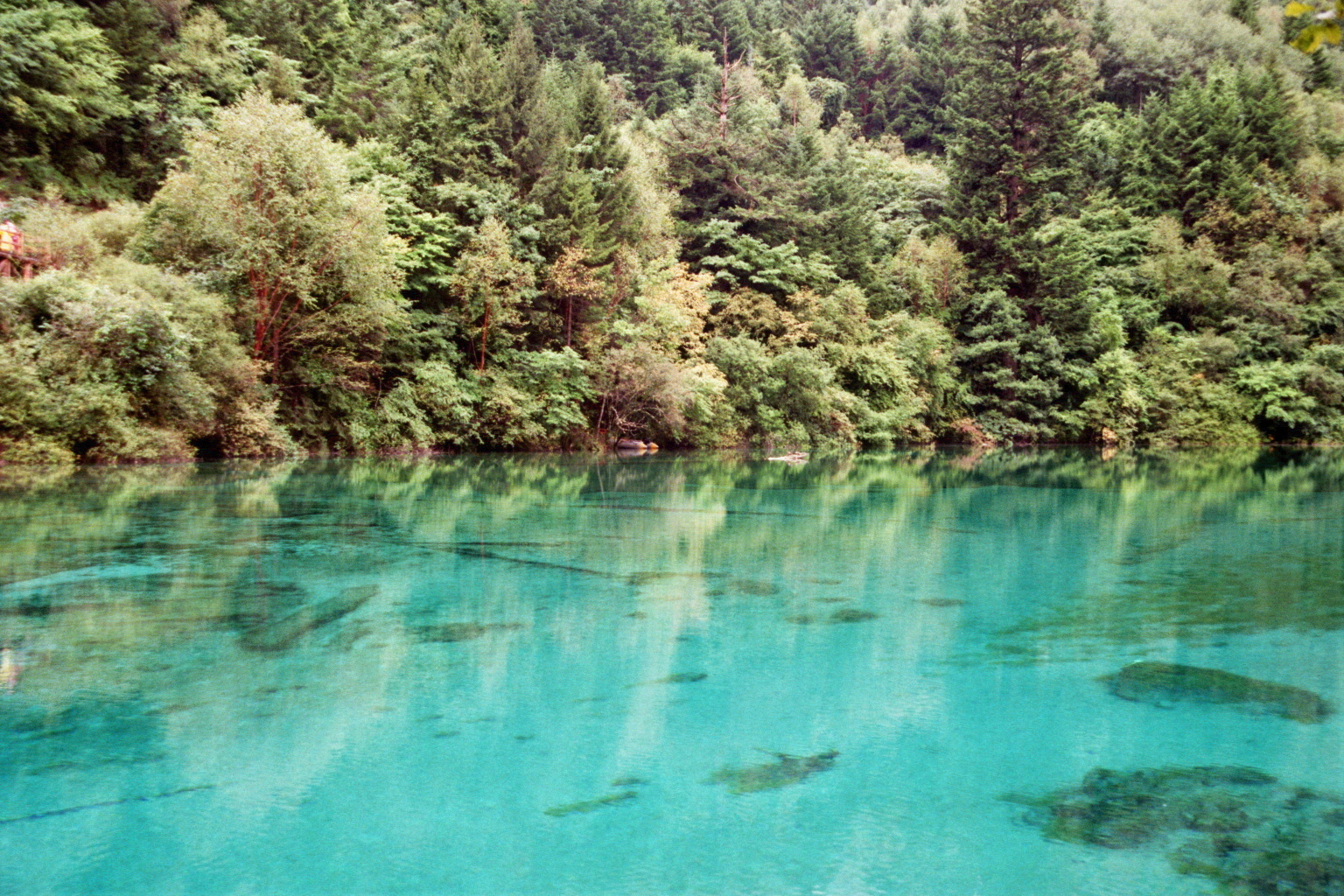 Surreal, colorful national park in Jiuzhaigou, China